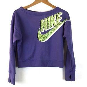 Nike Purple & Lime Sweatshirt